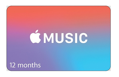 Apple Music subscription gift card | The coolest gifts of the year for tweens and teens