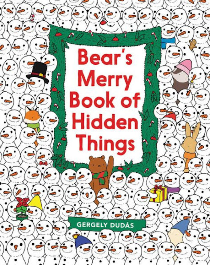 Best Christmas books for kids: Bear's Merry Book of Hidden Things by Gergely Dudás