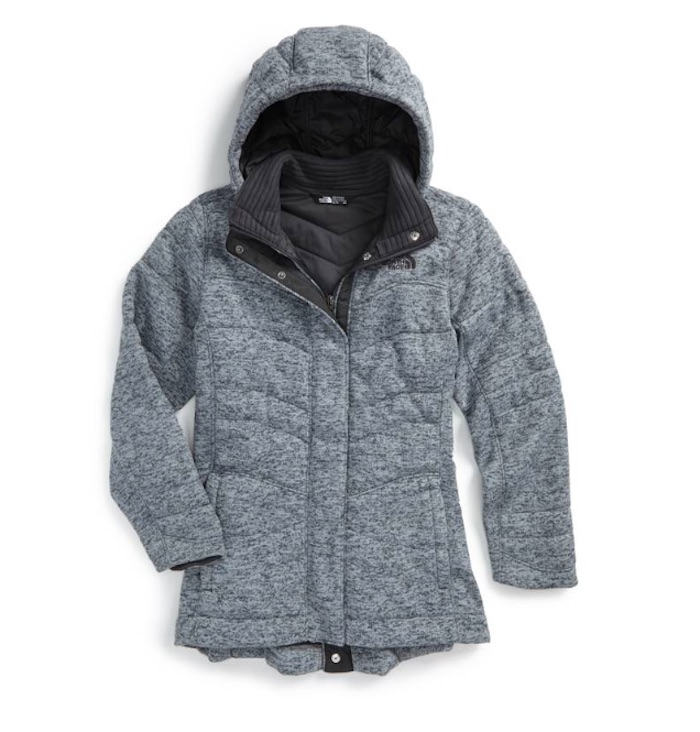 Warmest kids' winter coats: The North Face Indi 2 Hooded Knit Parka