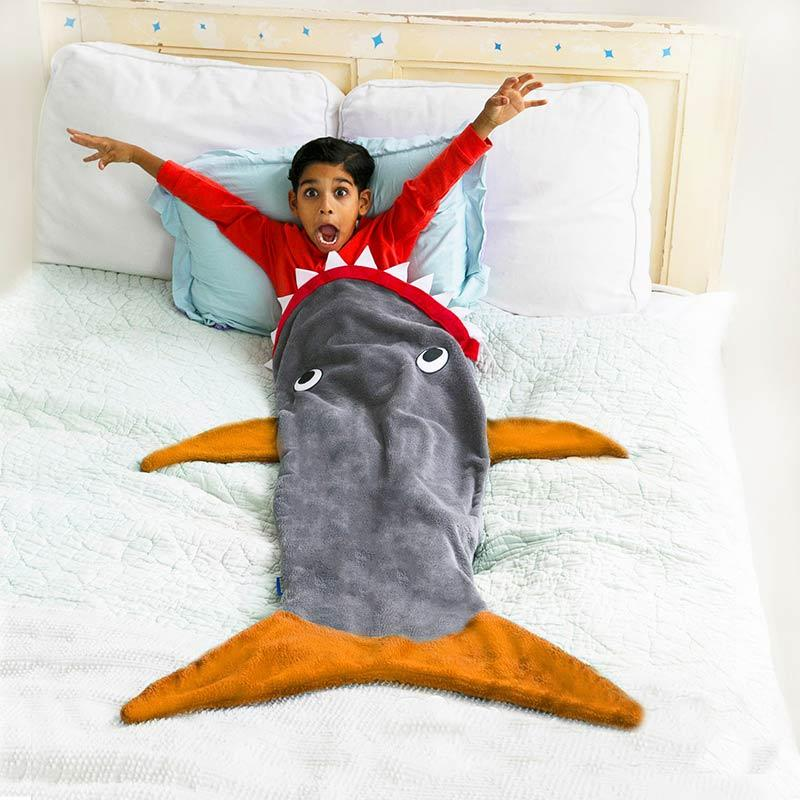 Coolest preschool gifts: Shark blanket from Blankie Tails
