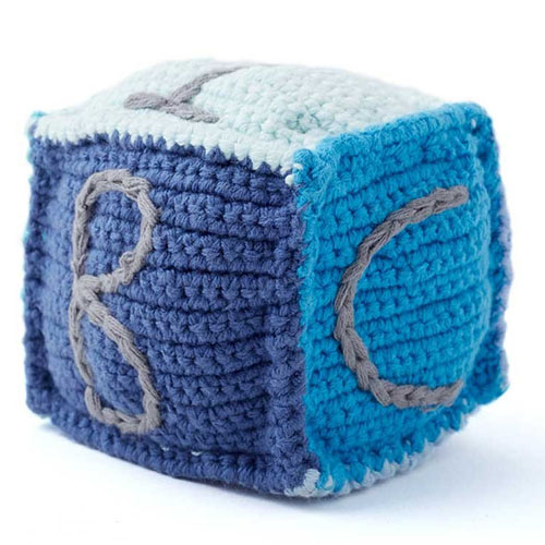 Cool Hanukkah gifts: Handmade knit baby block
