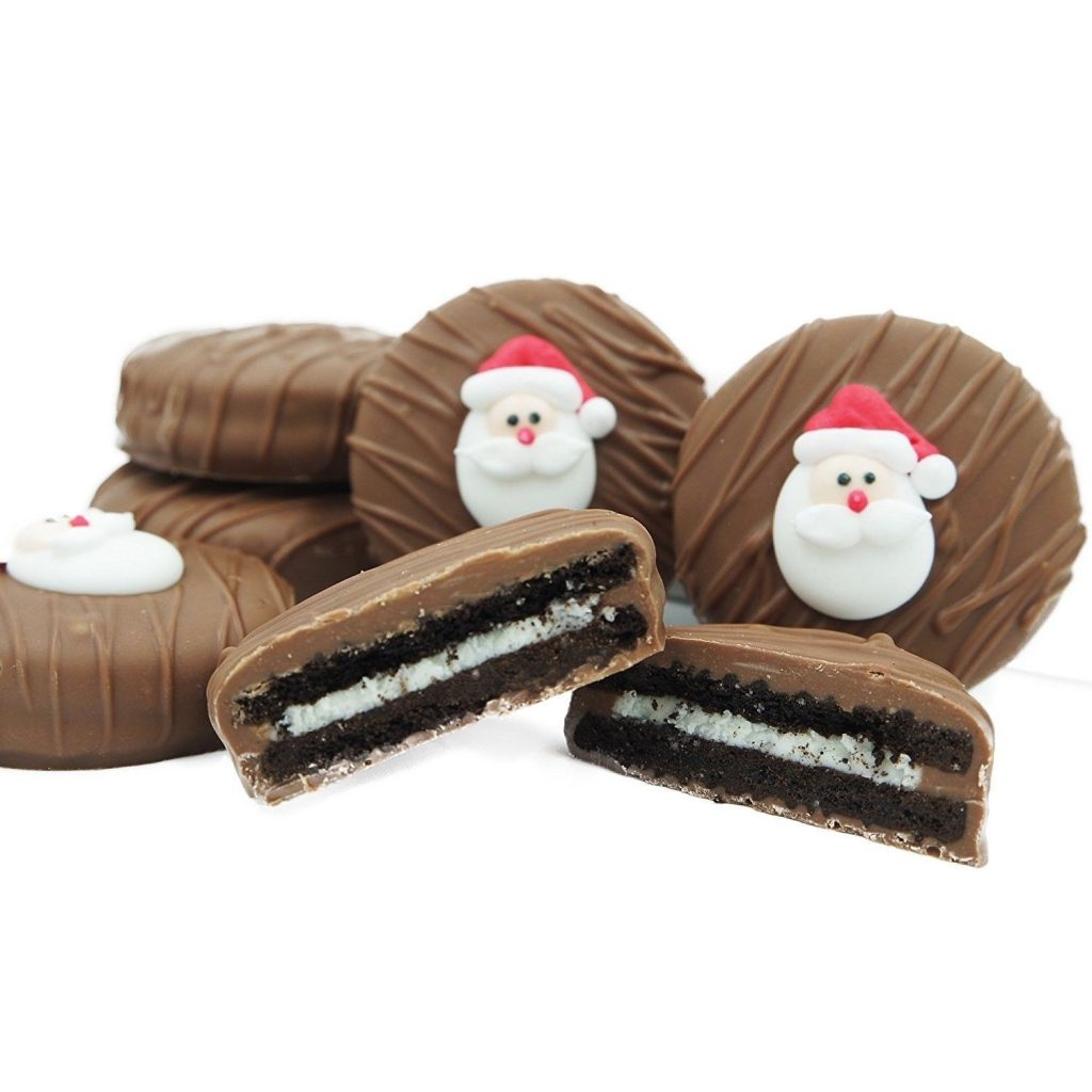 Chocolate Santa Oreos from Philadelphia Candies: Stocking Stuffers supporting indie shops