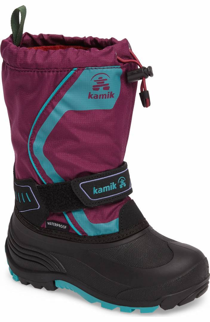 Colorful snow boots for kids: Plum boots by Kamik