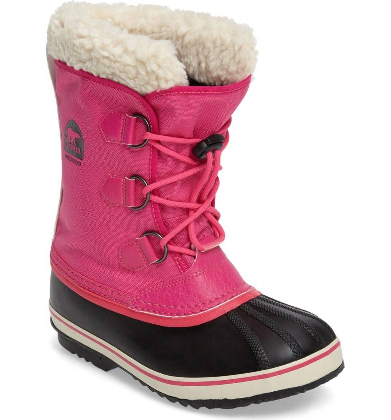 Colorful snow boots for kids: Hot Pink Sorel
