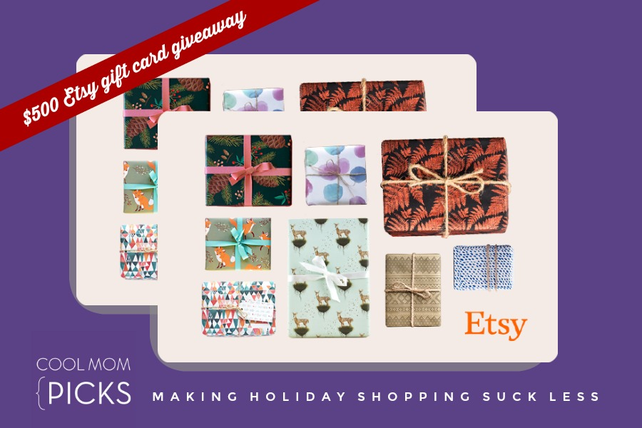 Cool Mom Picks holiday gift guide giveaway: $500 in Etsy gift cards to support small business this holiday!