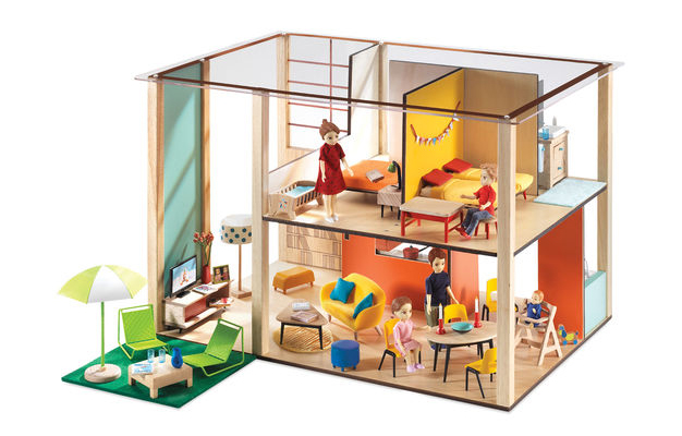 Coolest preschool gifts: Modern cubic dollhouse