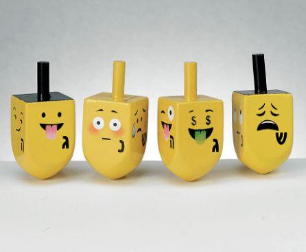 Cool Hanukkah gifts: emoji dreidels