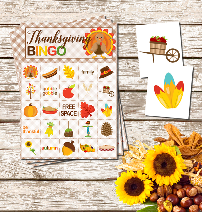 Thanksgiving activity printables: Thanksgiving Bingo Printable | Pretty My Party