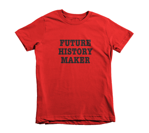 Coolest preschool gifts: Kids' Future History Maker Tee from District of Clothing