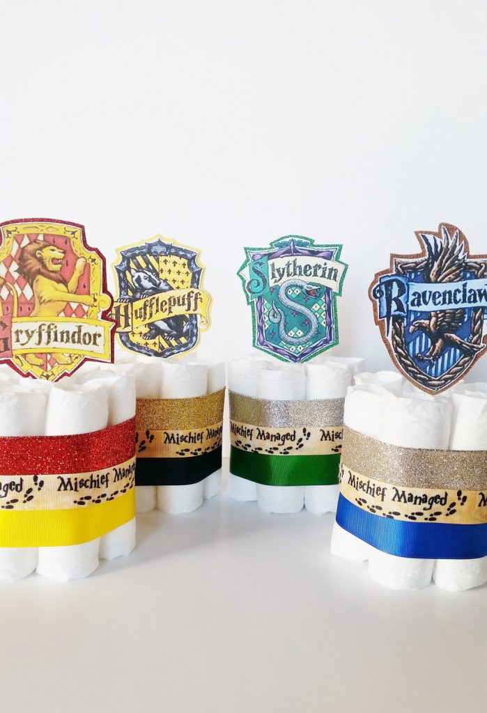 Harry Potter themed diaper cakes at Lil Lovebug Creations on Etsy