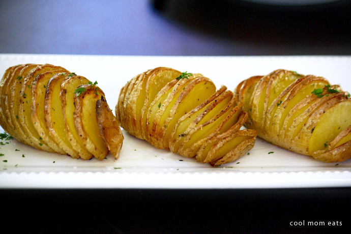 Last-minute sides: Hasselback potatoes | Jane Sweeney via Cool Mom Eats