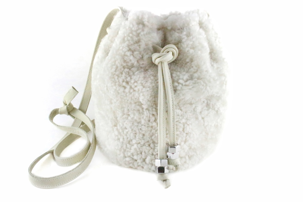 Shearling mini bag from Love Cortnie : Glam gifts for a female BFF