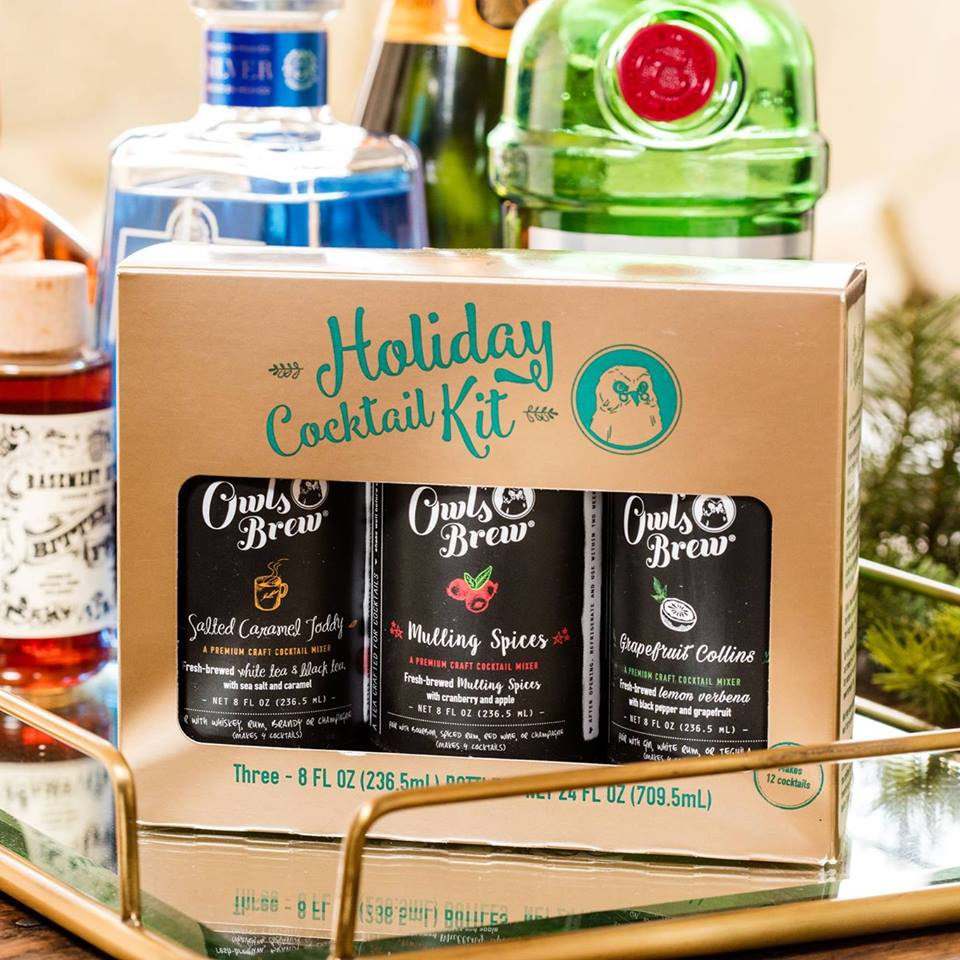 Thanksgiving hostess gifts | owl's brew cocktail mixers