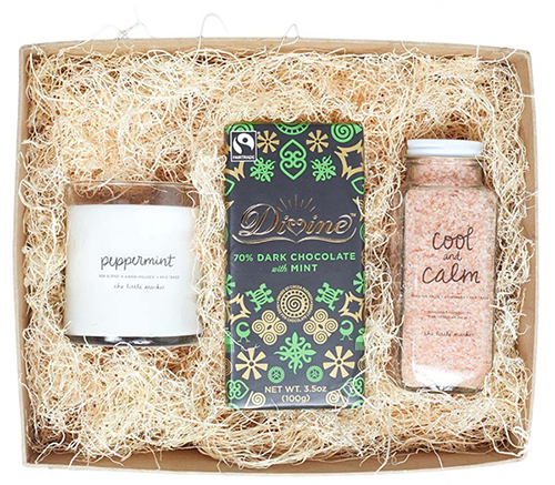 Cool and calm peppermint gift box: Self-care gifts