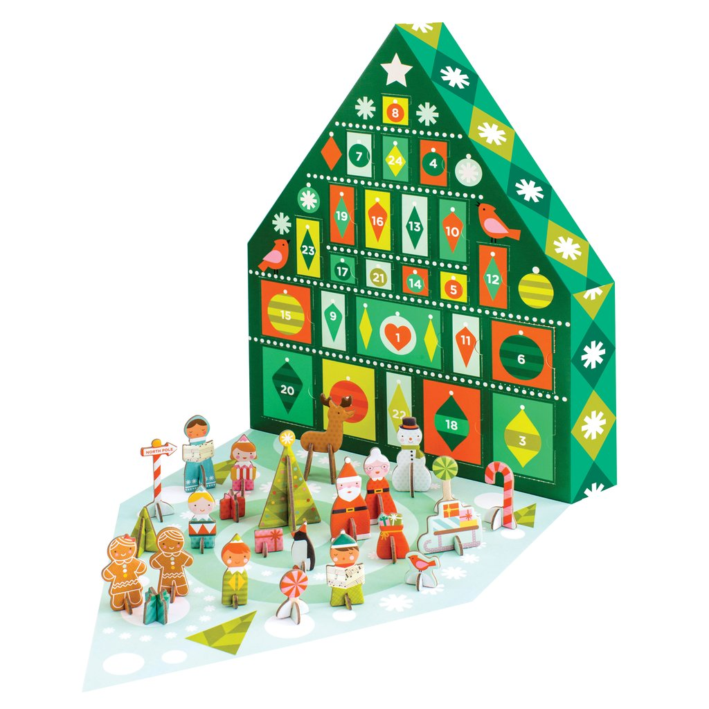 Coolest Advent Calendars | petit collage tree Advent calendar