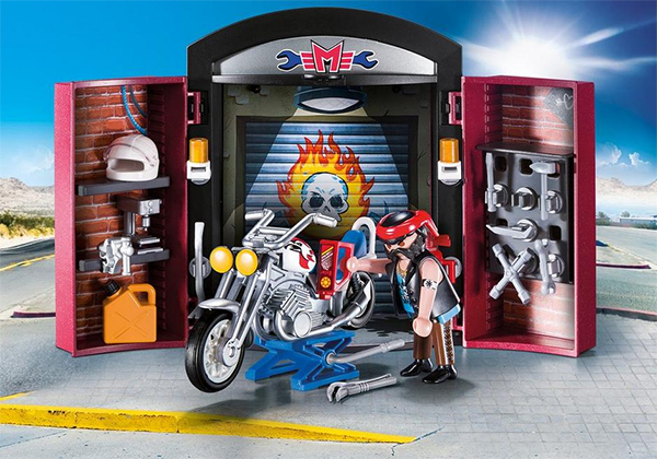 Coolest preschool gifts: Playmobil bike shop carry case