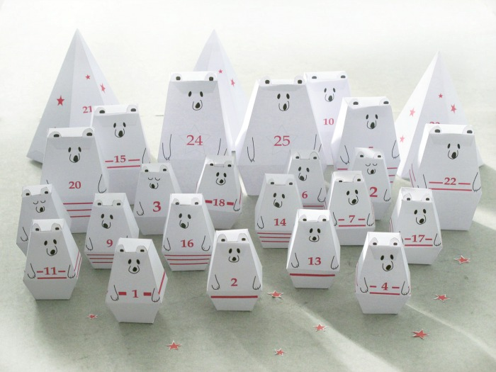 Coolest Advent calendars | printable polar bear Advent calendar