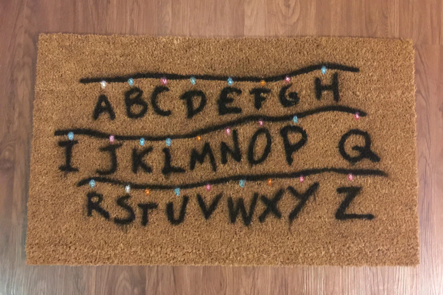 Stranger Things Doormat from Ry Nic