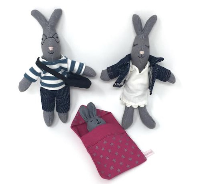 Shop for Good Sunday: Choublanc Bunny Family by Mouse in the House