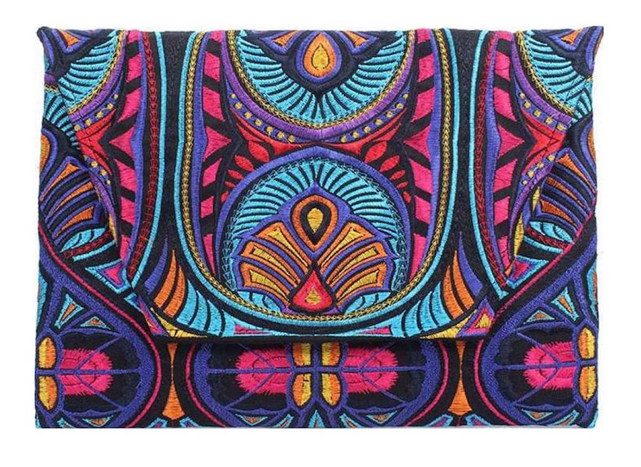 Shop for Good Sunday: Embroidered Hmong Thailand Clutch Bag
