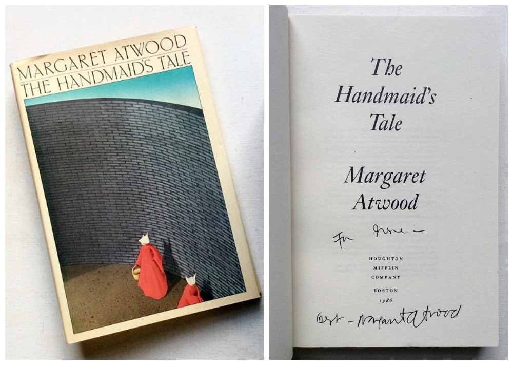Cool feminist gifts supporting women-owned shops: 1st edition signed Handmaid's Tale by Margaret Atwood