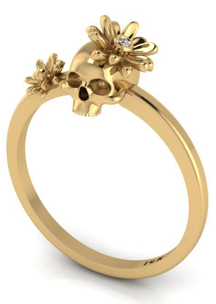 Skull and diamond 14k ring: Cool gifts for your glam BFF