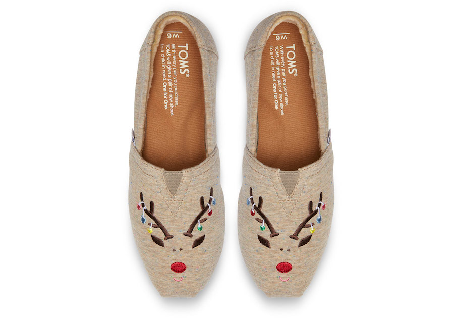 TOMS holiday reindeer shoes