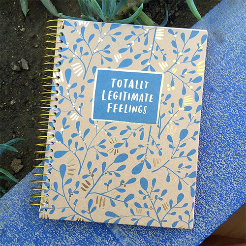 Totally legitimate feelings journal by Emily McDowell: Self-care gifts