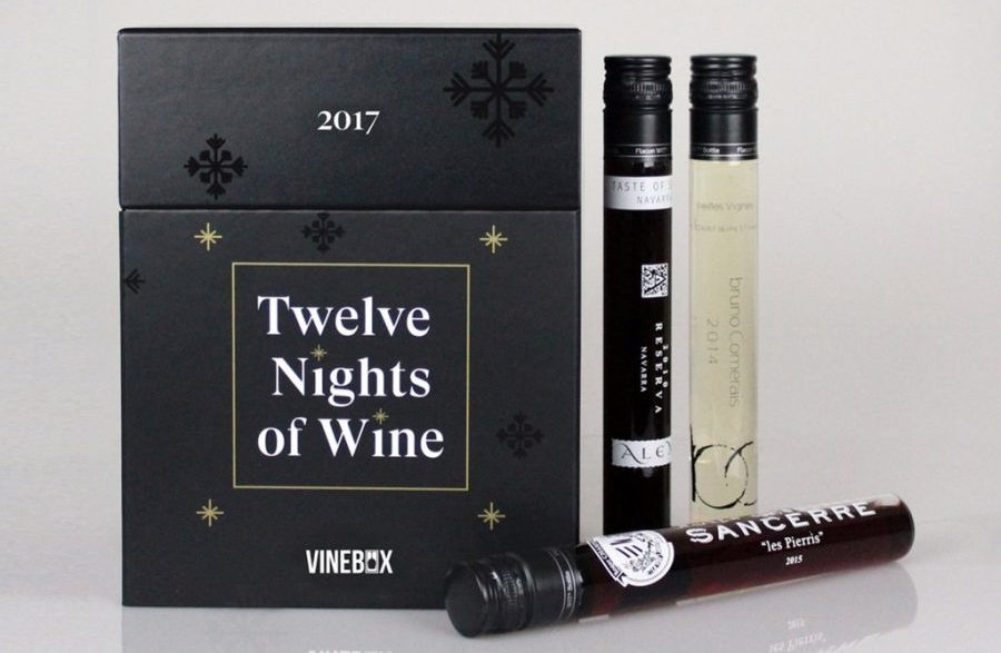 Coolest Advent calendars | vinebox 12 nights of wine Advent calendar