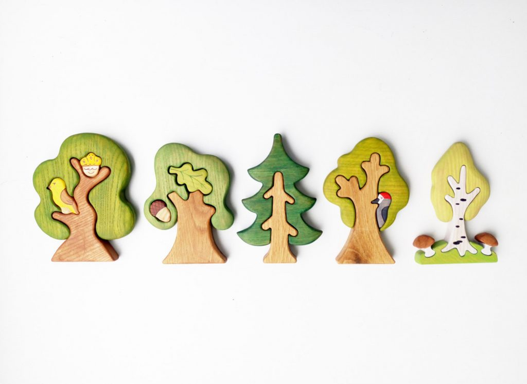 Wooden Waldorf Tree Toys: Cool kids' stocking stuffer ideas