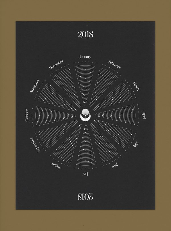 2018 printable calendars: Celestial Downloadable Calendar by Cocorrina