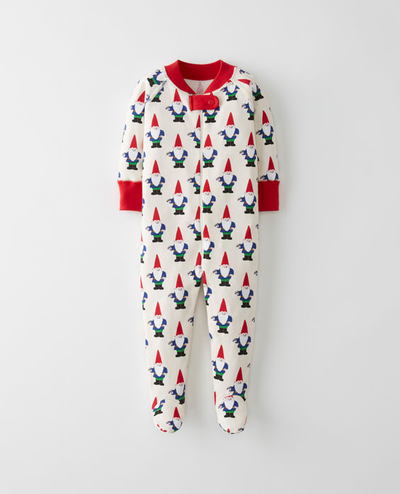 christmas pajamas for babies garden gnome footies at hanna andersson