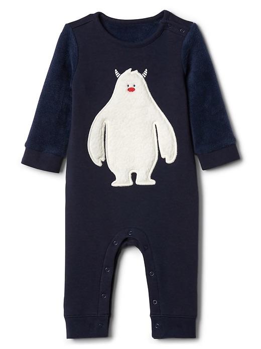 christmas pajamas for babies yeti romper at the gap