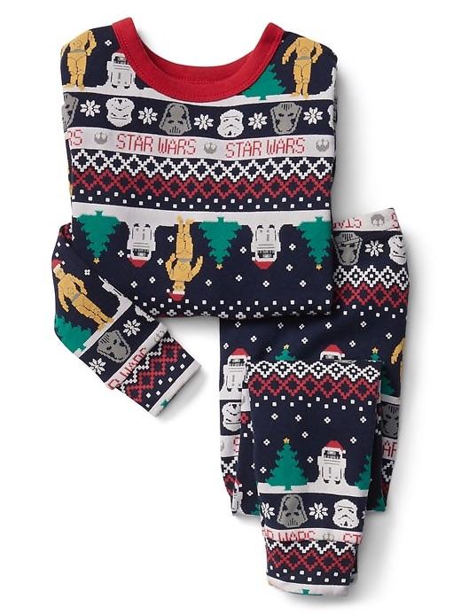 christmas pajamas for babies star wars fair isle at gap