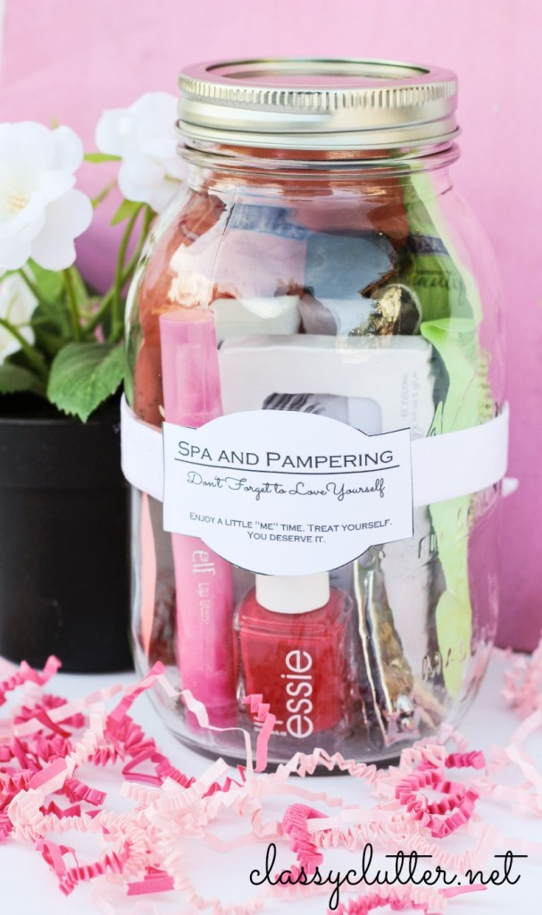 How to make gift cards more special: Give a gift card dropped inside a mini-basket mason jar like this one by ClassyClutter.net.