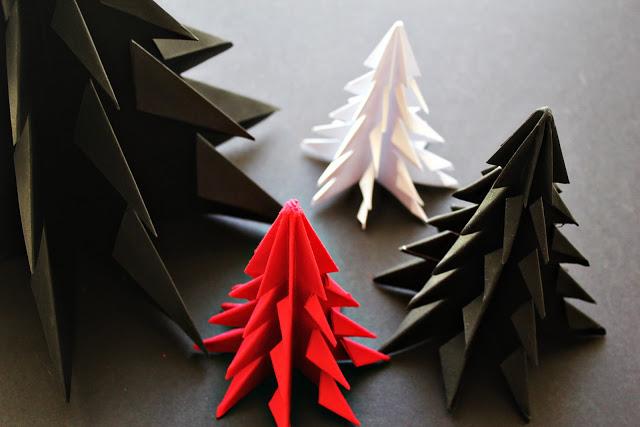 Origami ornaments: DIY origami Christmas treesmay look intimidating   MInimal Crafts
