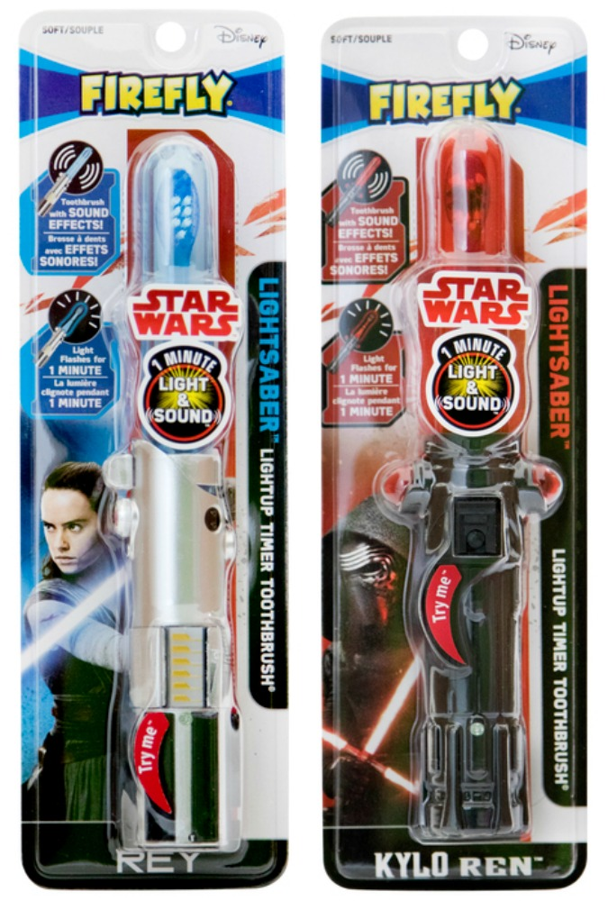 Firefly Star Wars toothbrushes with light and sound: Cool Star Wars stocking stuffers for kids | Cool Mom Picks