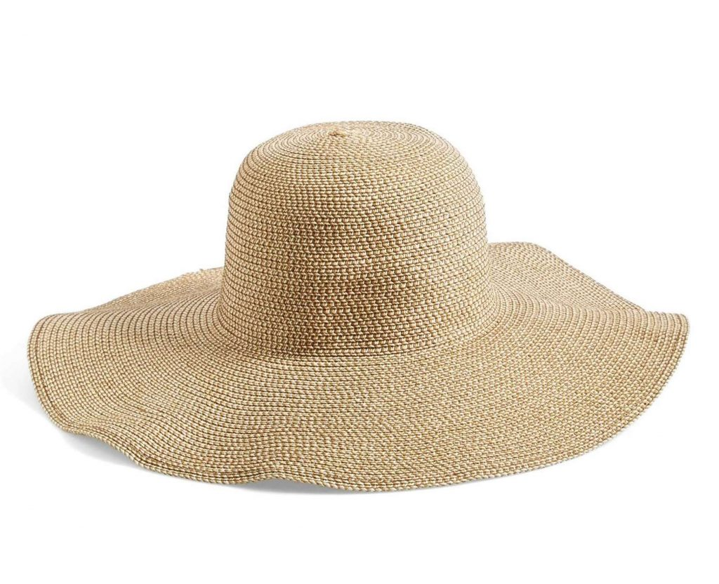 Anti-aging sun tips: You need a big, floppy wide-brimmed hat! This one from Nordstrom