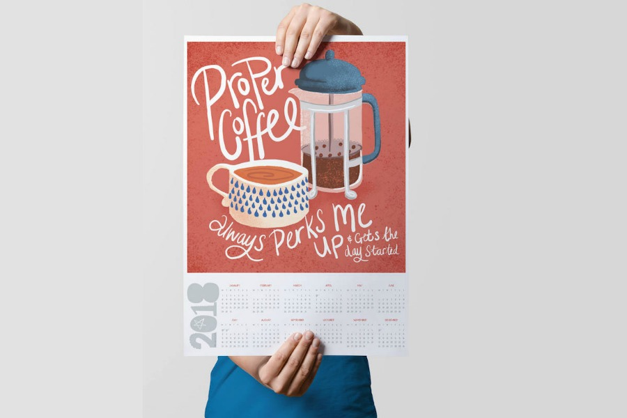 12 of the very best printable calendars we hope are as inspiring as 2018 will be.