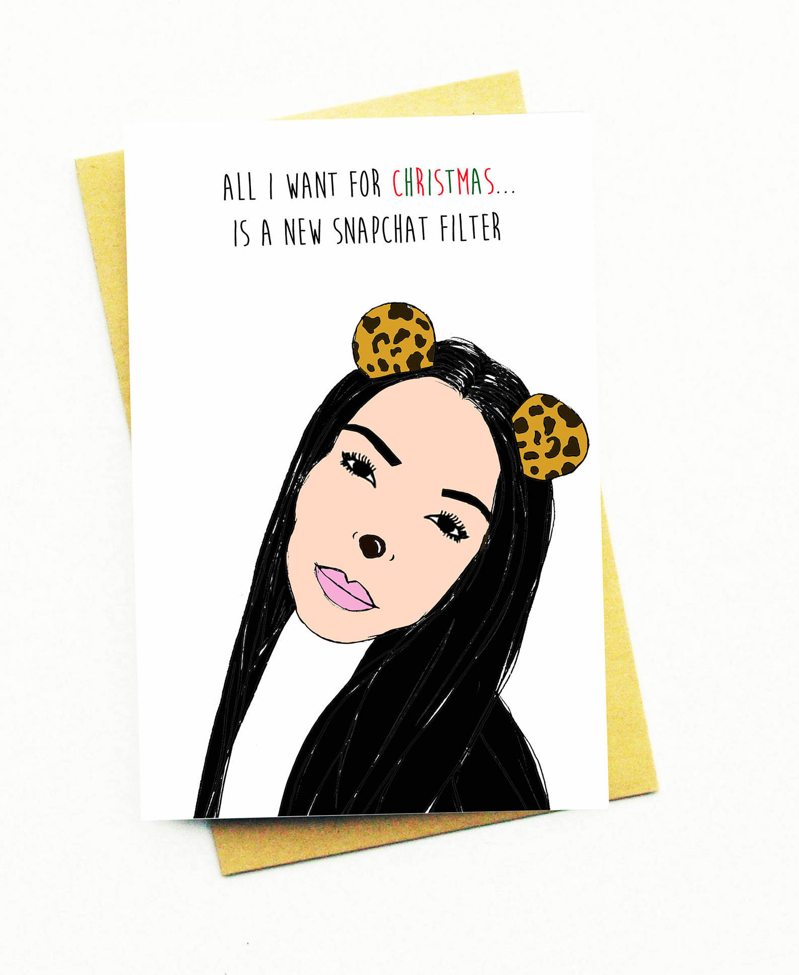 Funny Christmas Cards: Kardashians and those darn snapchat filters ...