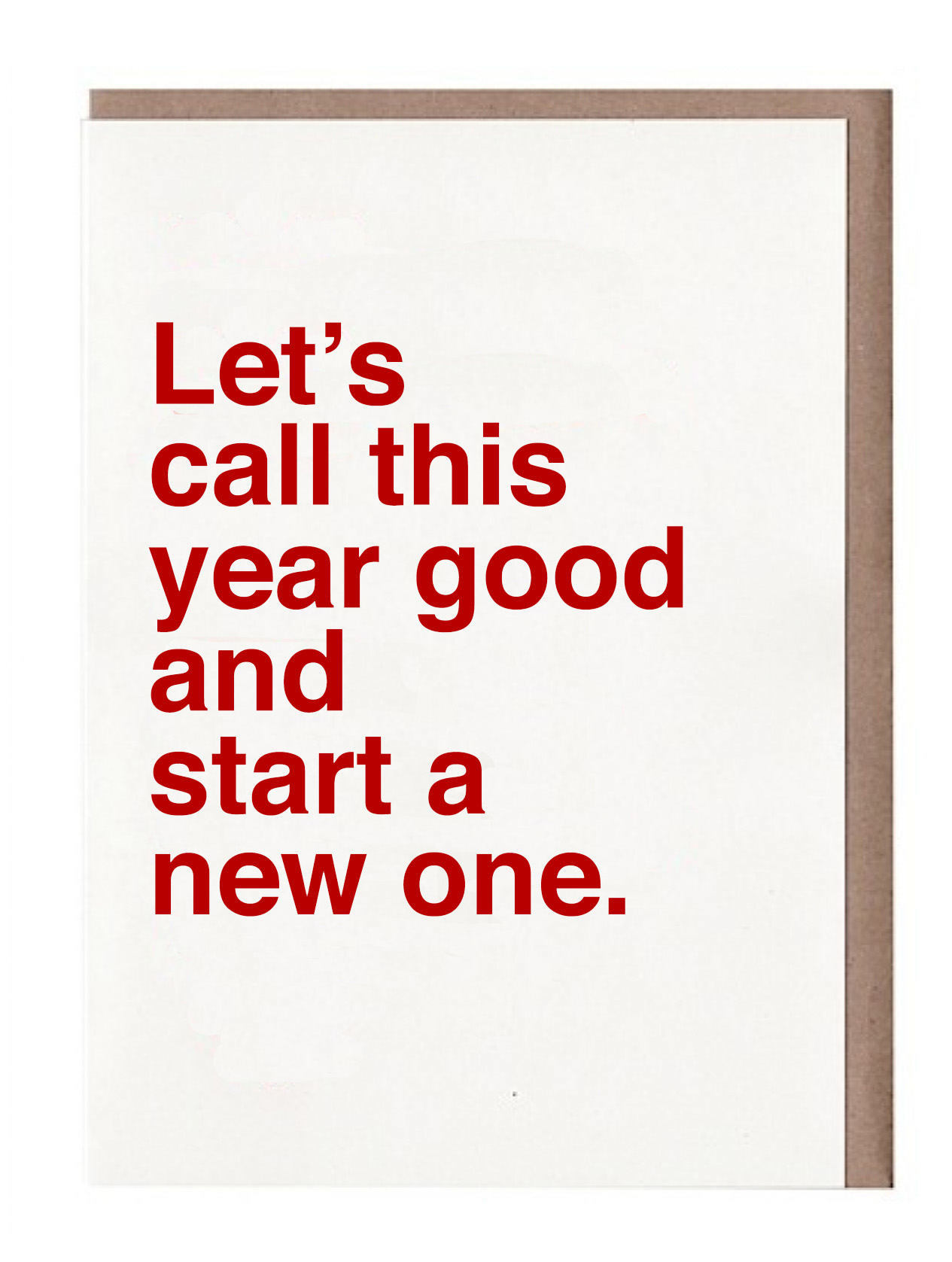 Let's call this year good...funny new year's cards for people who are ready for 2017 to be O-VAH