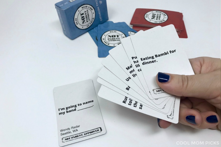 Not Parent Approved: Our favorite irreverent card game just got even more _______.