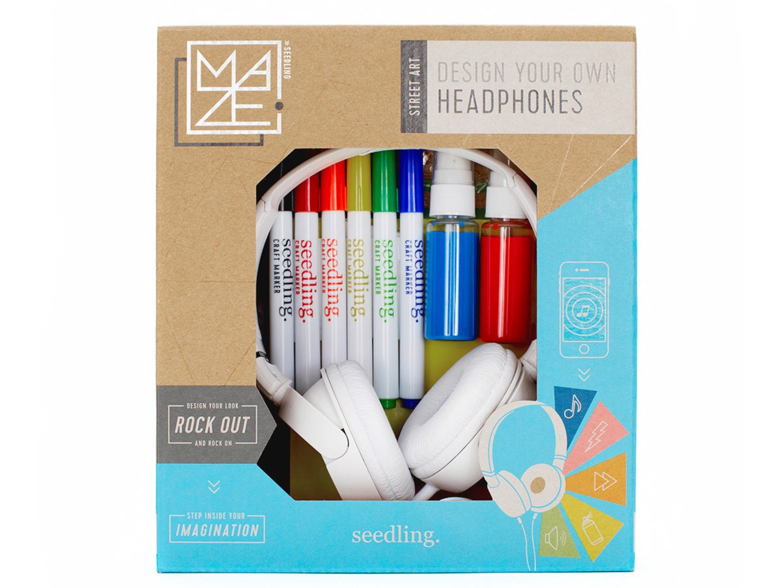 Seedling design your own headphone kit: One of the gifts you can buy to make the holiday of a US child in need or in foster care through Daymaker