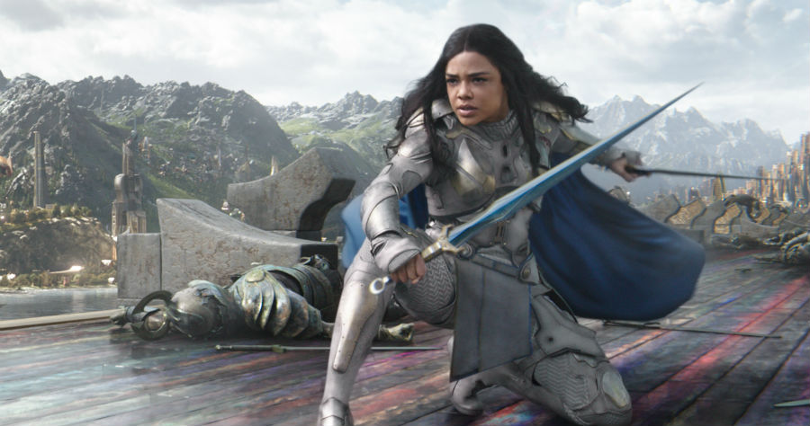 Women superheroes ruled 2017, like Tessa Thompson's Valkyrie in Thor: Ragnarok