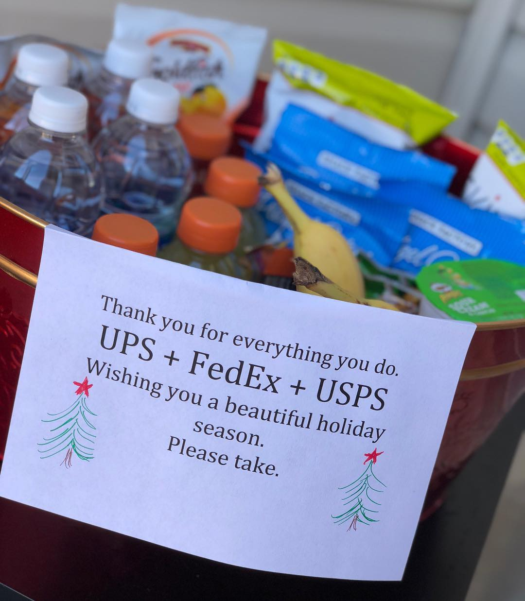 Thank you gift idea for your postal carriers and package delivery people via Danielle Elliott Smith