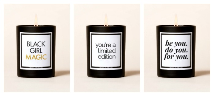 Candles from the The 125 Collection: Choose from sweet sayings or more sassy