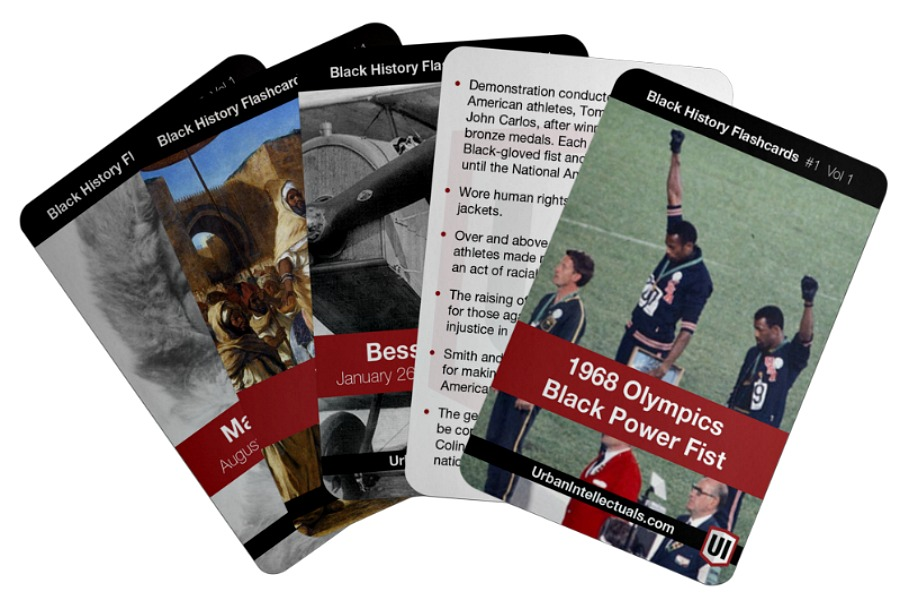 Black History flashcards that inspire and educate, 52 cards at a time.