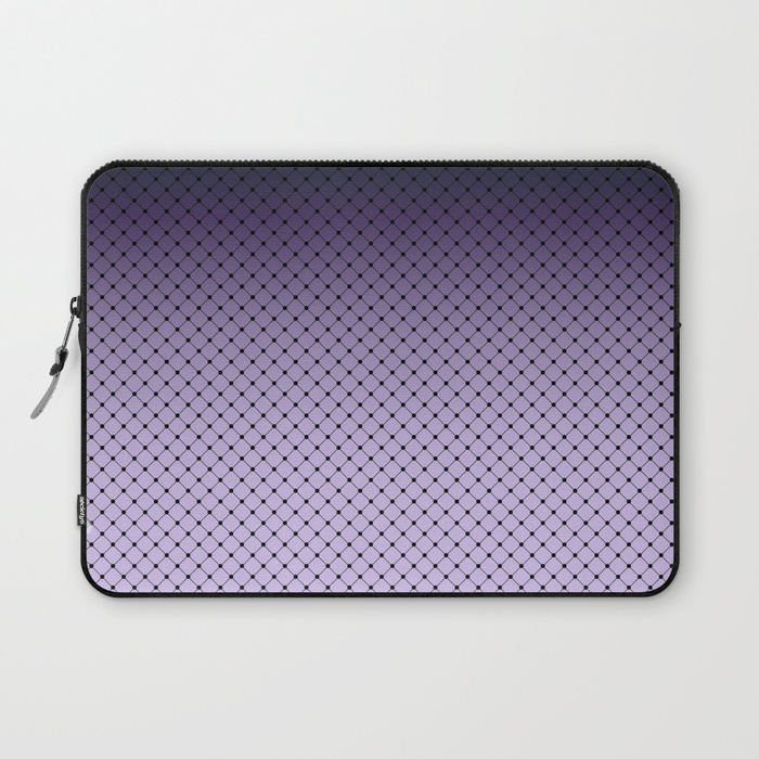 Black and purple ombre Ultra Violet laptop sleeve on Society 6