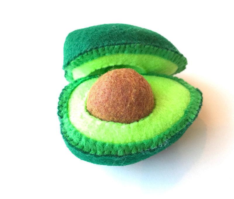 Cutest handmade play food on Etsy Avocado by Felt Food Truck
