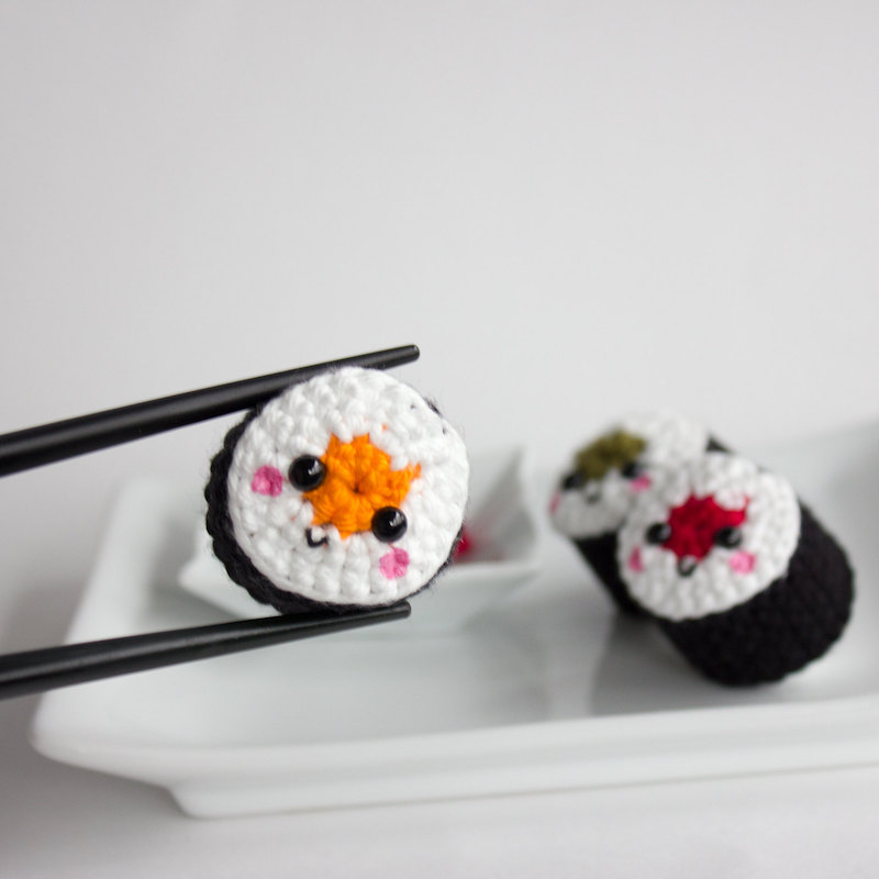 Cutest handmade play food makers on Etsy: Kawaii Sushi Rolls by Jes Loves Toast